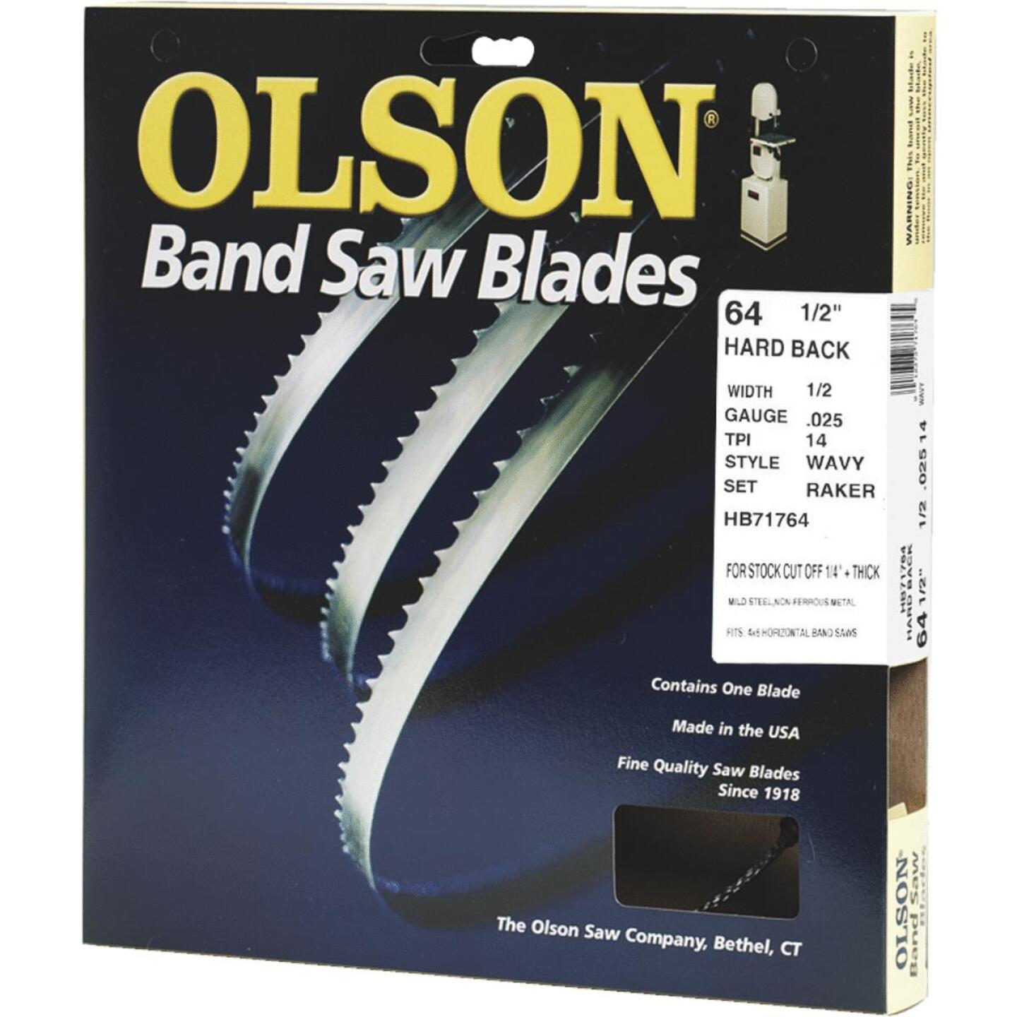 Olson 64-1/2 In. x 1/2 In. 14 TPI Wavy Hard Back Metal Cutting Band Saw Blade Image 1
