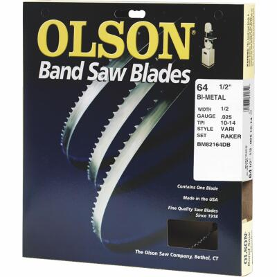 Olson 64-1/2 In. x 1/2 In. 10/14 TPI Vari Metal Cutting Band Saw Blade