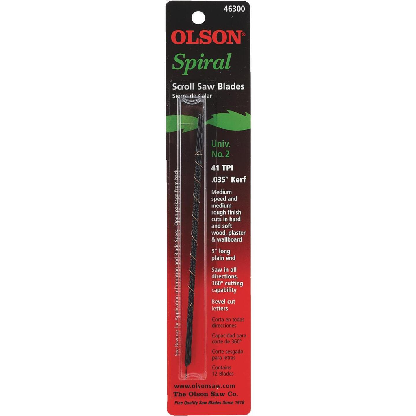 Olson 41TPI Spiral Plain End Scroll Saw Blade (12 Count) Image 2