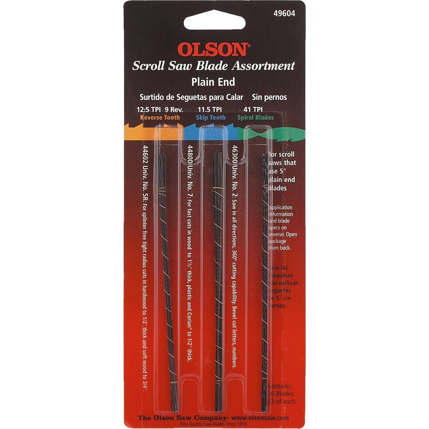 Olson Plain End Scroll Saw Blade Assortment (36 Piece) Image 2