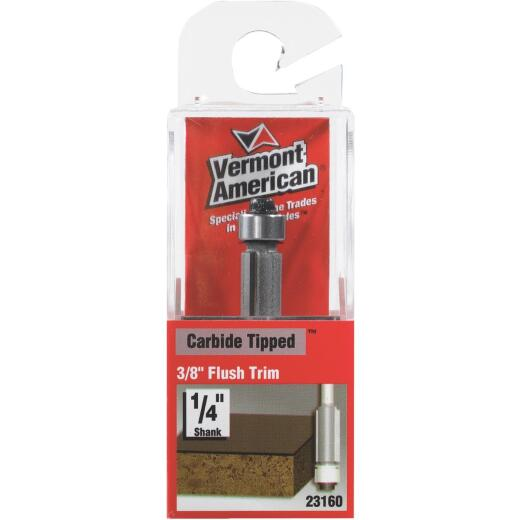 Vermont American Carbide Tip 3/8 In. x 9/16 In. Flush Trim Bit