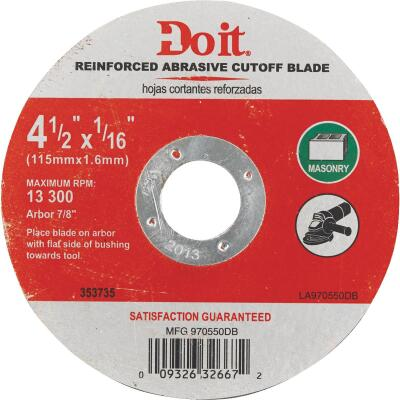 Do it Type 1 4-1/2 In. x 1/16 In. x 7/8 In. Masonry Cut-Off Wheel