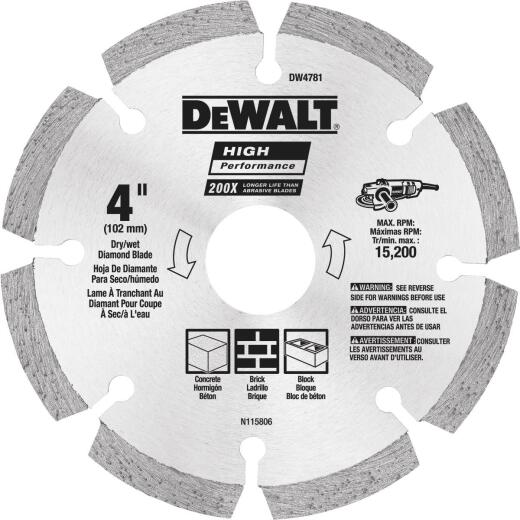 MK Diamond Contractor 4 In. Segmented Rim Dry/Wet Cut Diamond Blade