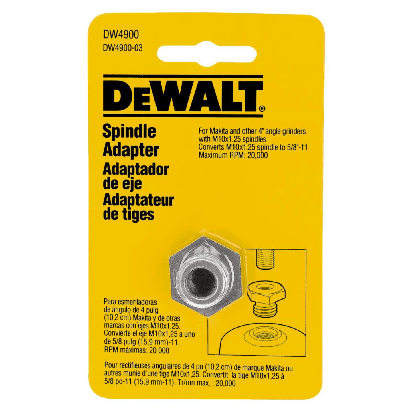 DeWalt Grinder Arbor Spindle Adapter Image 1