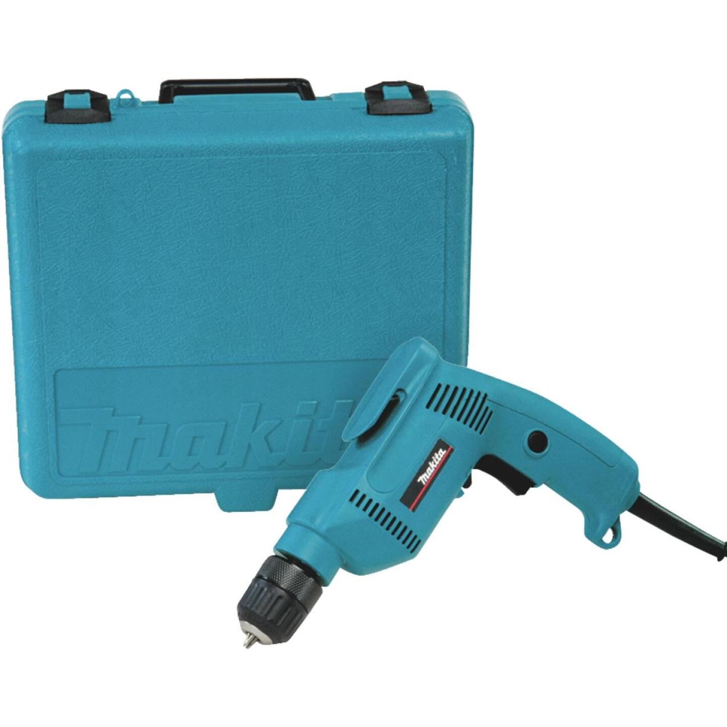 Makita 3/8 In. 4.9-Amp Keyless Electric Drill with Case Image 2
