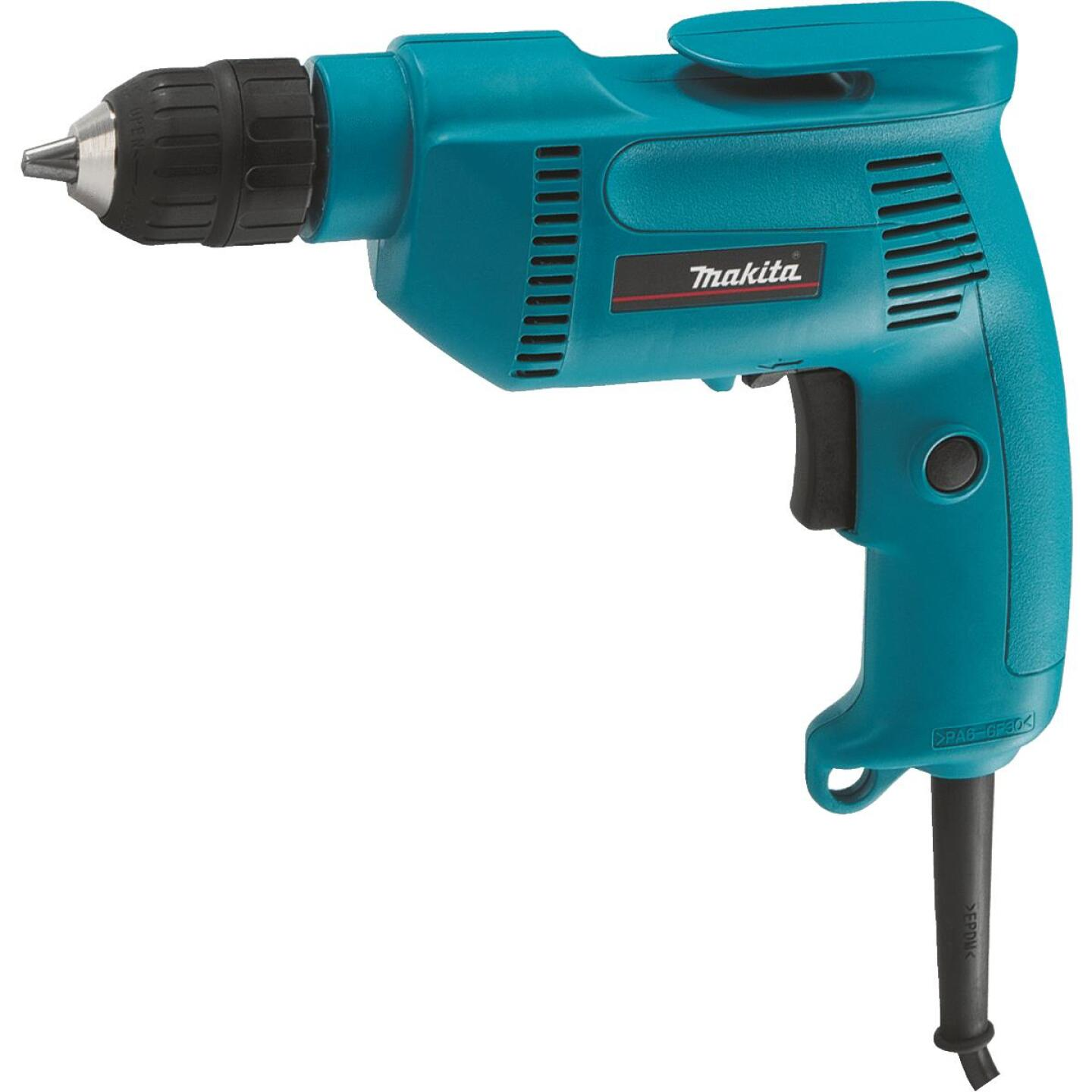 Makita 3/8 In. 4.9-Amp Keyless Electric Drill with Case Image 1