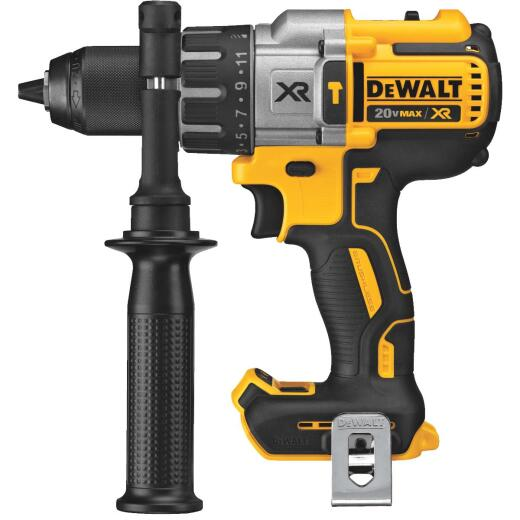 DeWalt 20 Volt MAX XR Lithium-Ion Brushless 1/2 In. 3-Speed Cordless Hammer Drill (Bare Tool)