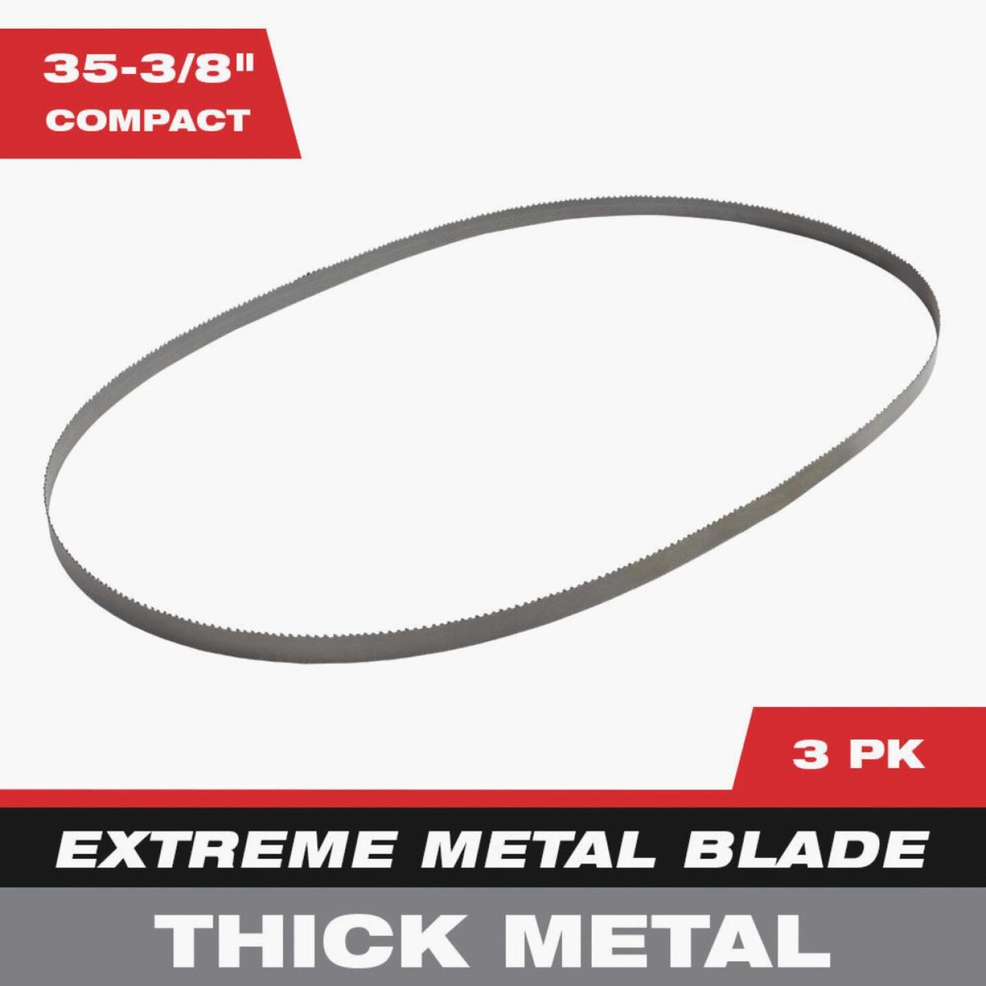 Milwaukee 35-3/8 In. 8/10 TPI Extreme Metal Band Saw Blade (3-Pack) Image 2