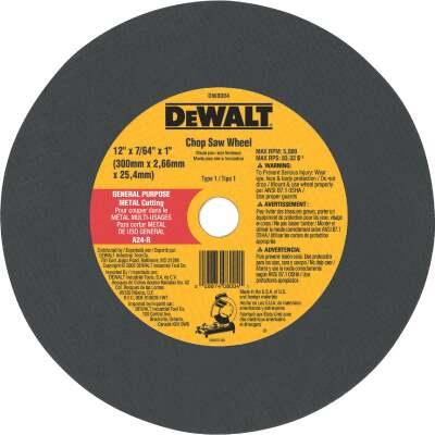 DeWalt HP Type 1 12 In. x 7/64 In. x 1 In. Metal Cut-Off Wheel