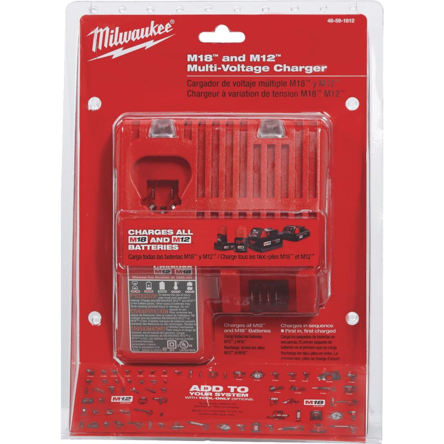 Milwaukee M18/M12 18 Volt and 12 Volt Lithium-Ion Multi-Voltage Battery Charger Image 3
