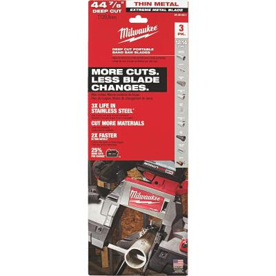 Milwaukee 44-7/8 In. 12/14 TPI Extreme Metal Band Saw Blade (3-Pack)