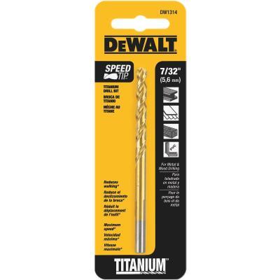 Irwin 7/32 In. x 3-3/4 In. Titanium Drill Bit