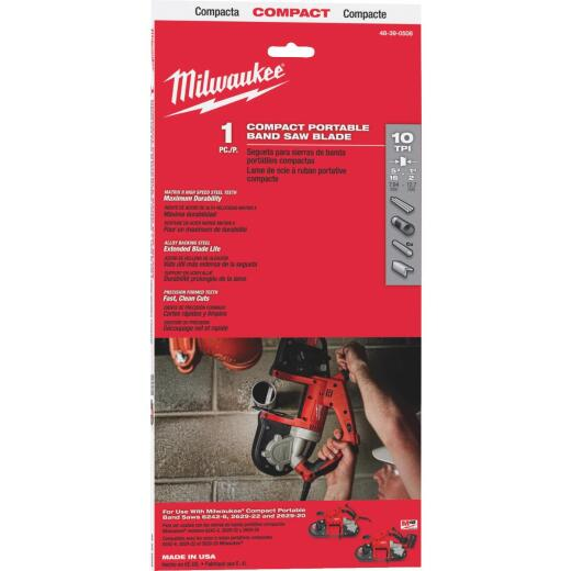 Milwaukee 35-3/8 In. x 1/2 In. 10 TPI Compact Band Saw Blade