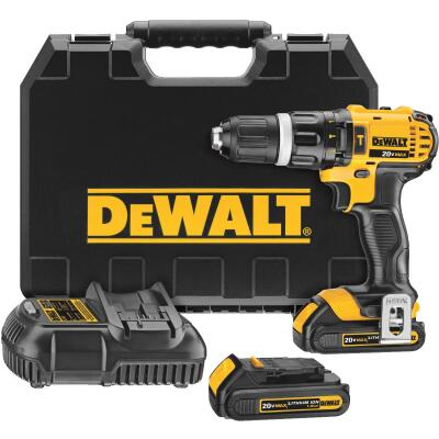 DeWalt 20 Volt MAX Lithium-Ion 1/2 In. Compact Cordless Hammer Drill Kit