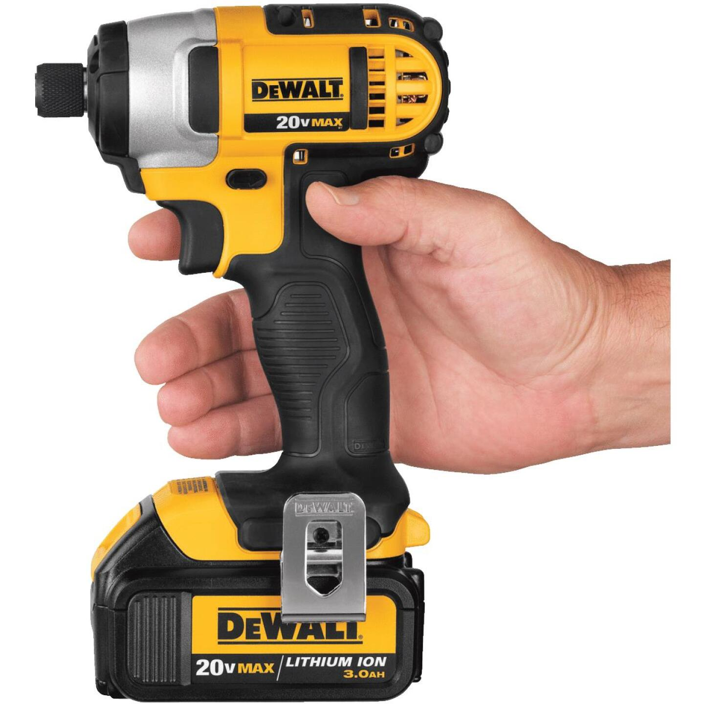 DeWalt 20 Volt MAX Lithium-Ion 1/4 In. Hex Cordless Impact Driver Kit Image 3