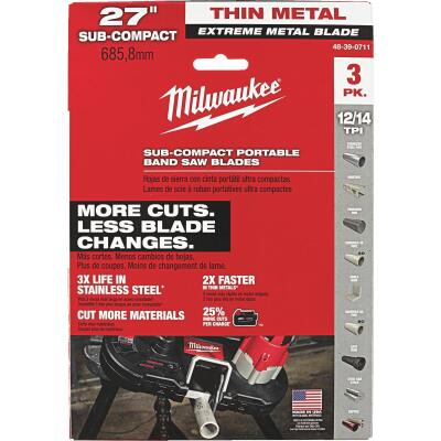 Milwaukee 27 In. 12/14 TPI Extreme Metal Band Saw Blade (3-Pack)