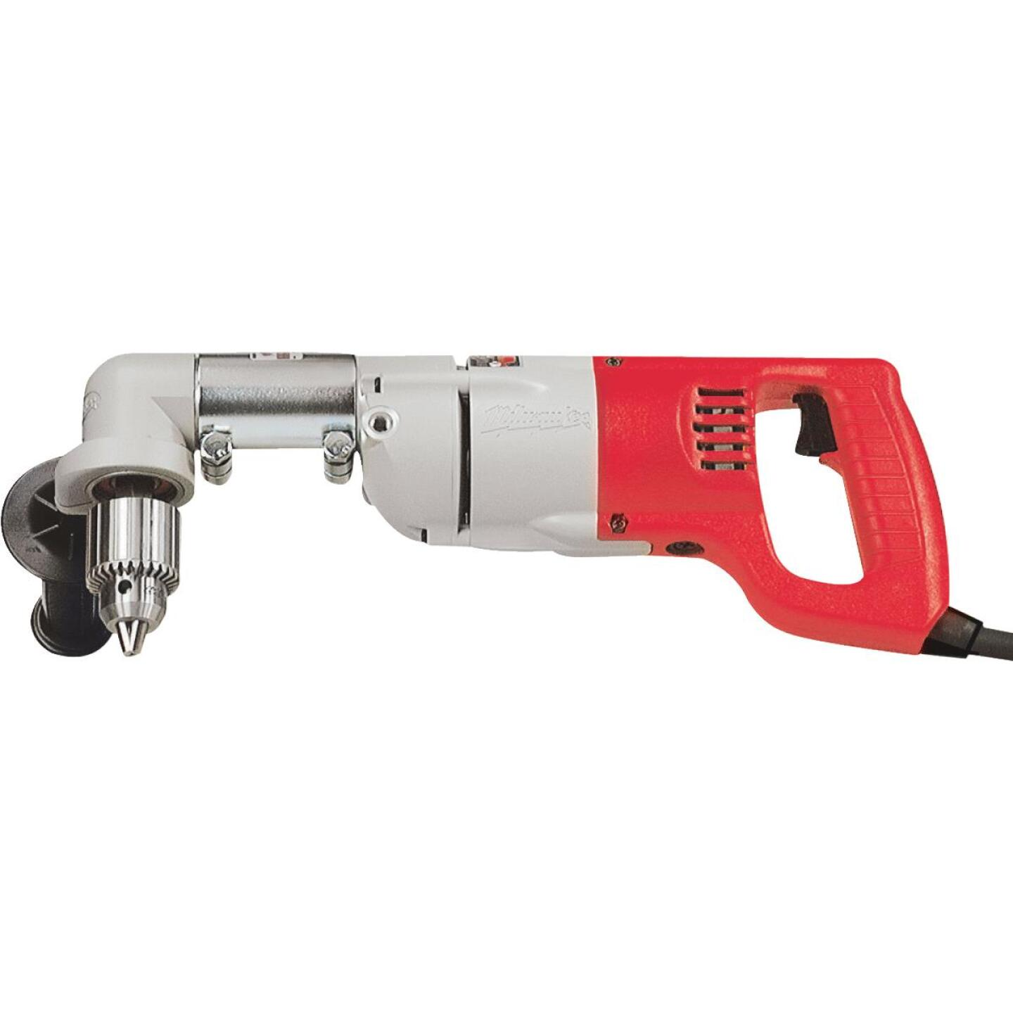Milwaukee 1/2 In. 7-Amp Keyed D-Handle Electric Angle Drill Kit Image 1
