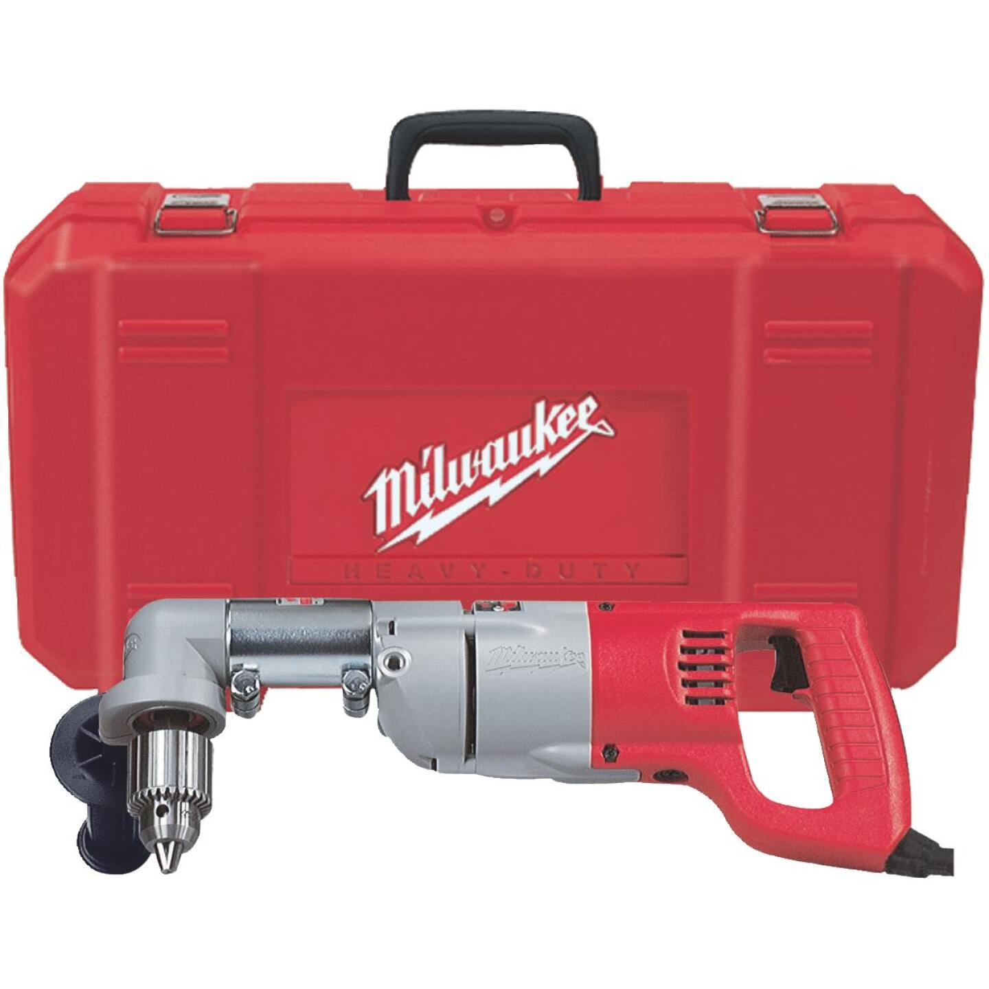 Milwaukee 1/2 In. 7-Amp Keyed D-Handle Electric Angle Drill Kit Image 2
