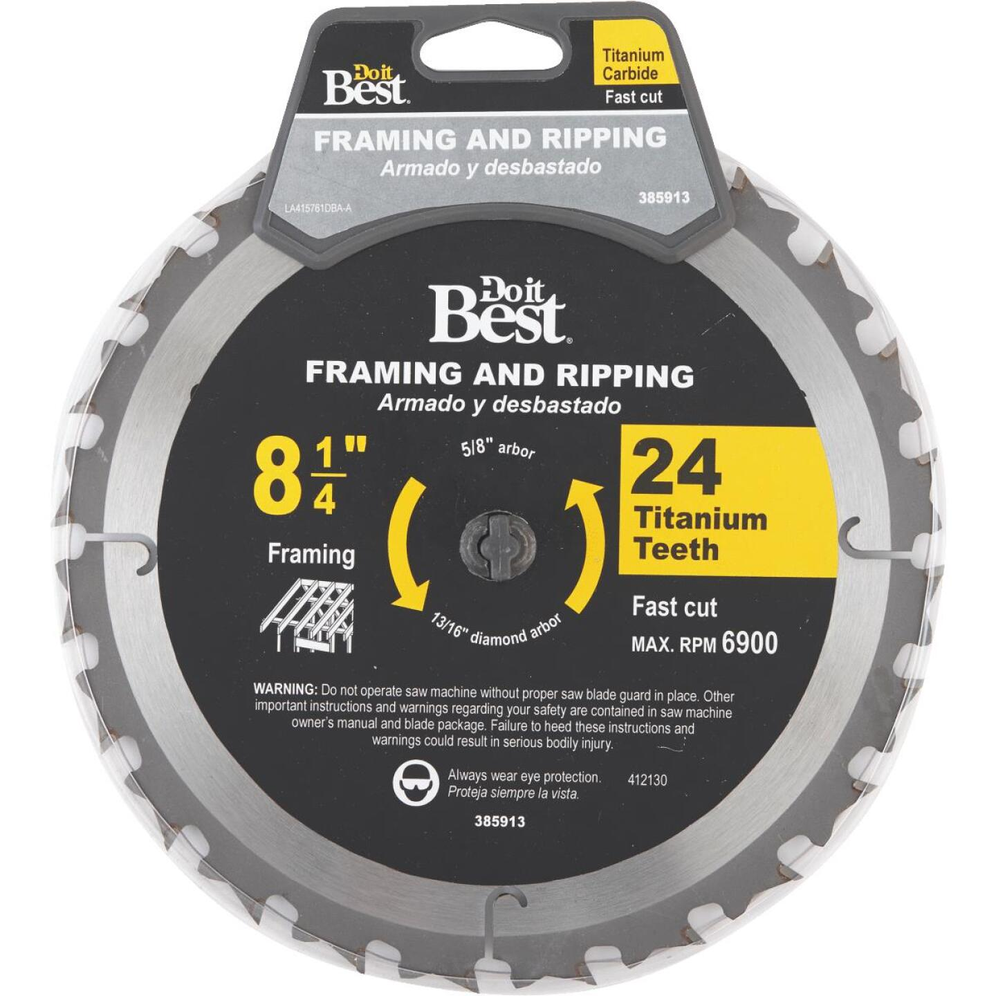 Do it Best Professional 8-1/4 In. 24-Tooth Framing Circular Saw Blade Image 1