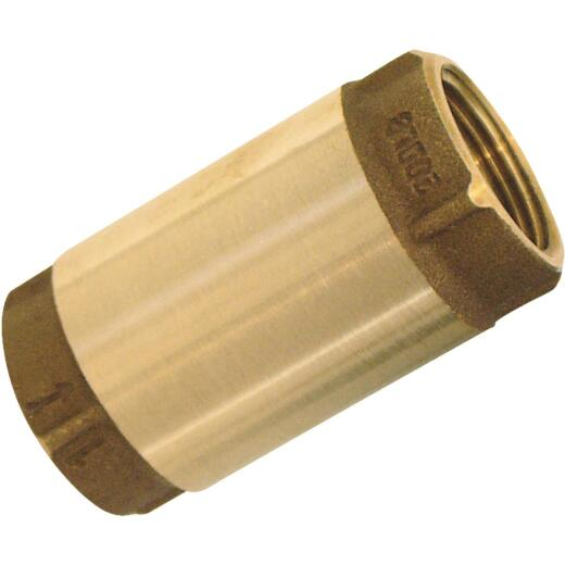 Simmons 1-1/4 In. Bronze Female Thread Check Valve