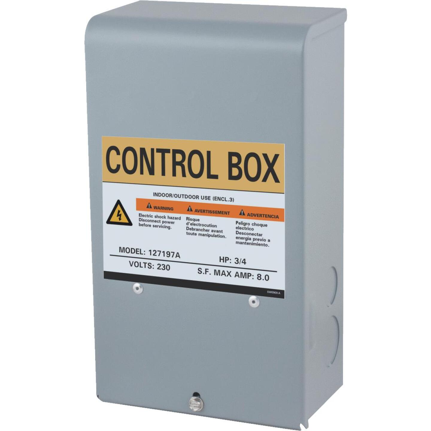 Star Water Systems 3/4 HP 230V Quick Disconnect Pump Control Box Image 1