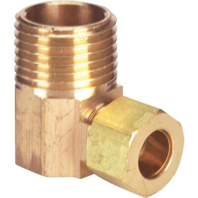 Do it 3/8 In. x 1/2 In. Male Low Lead Compression Brass Elbow