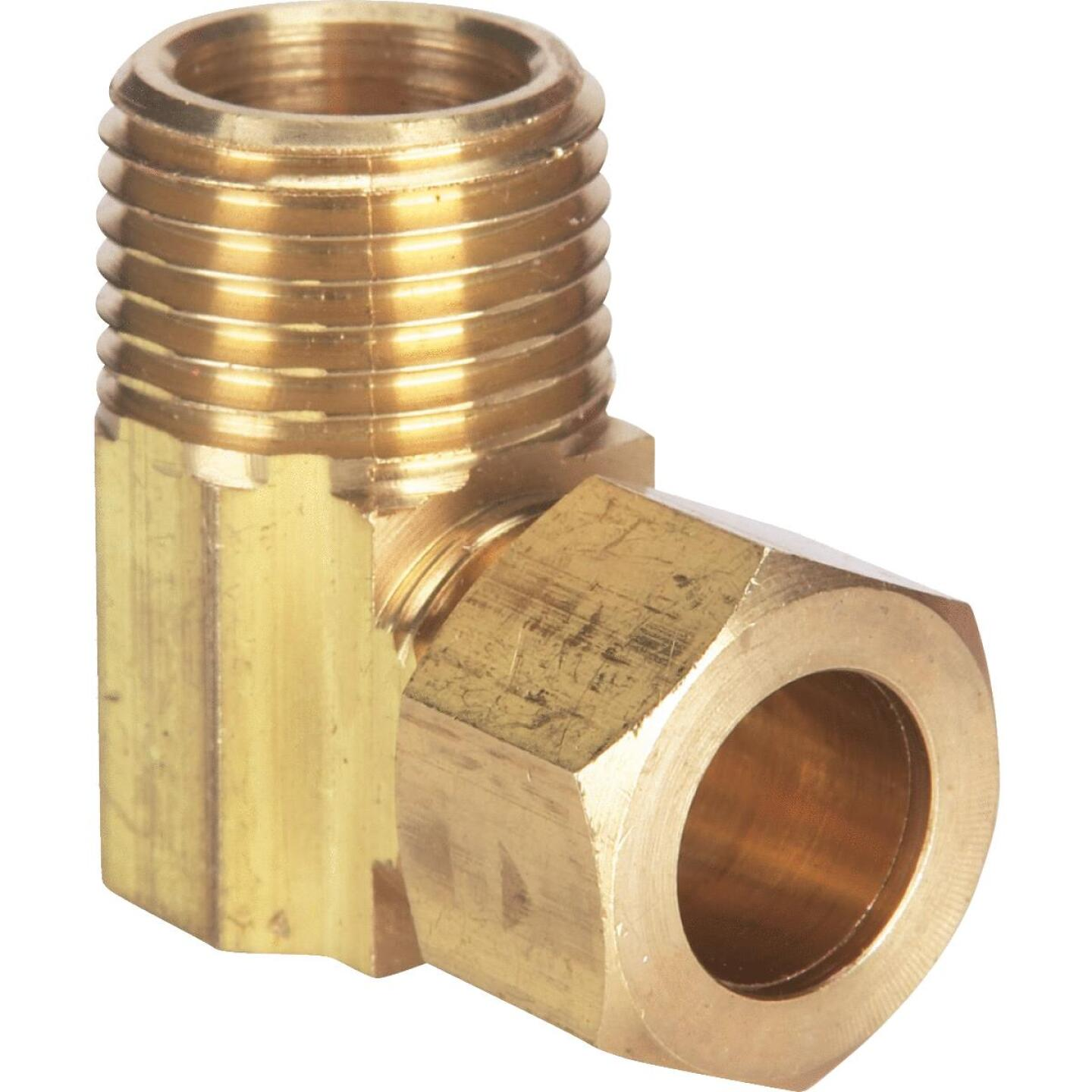 Do it 1/2 In. x 1/2 In. Male Low Lead Compression Brass Elbow Image 1