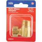 Do it 1/2 In. x 1/2 In. Male Low Lead Compression Brass Elbow Image 2