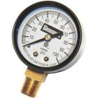Simmons 1/4 In. MPT Fitting 100 psi Pressure Gauge Image 1