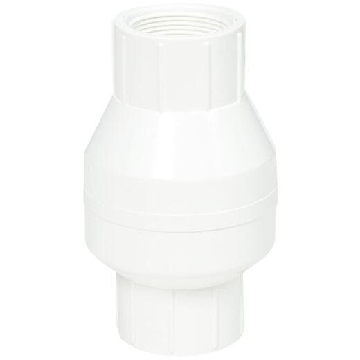 ProLine 1-1/2 In. PVC Schedule 40 Spring Loaded Check Valve