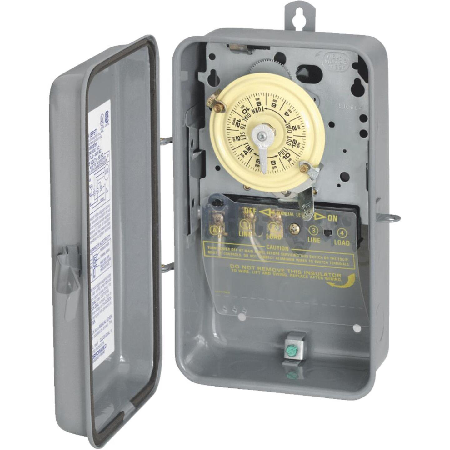 Intermatic 40A 120V 4000W Gray Mechanical Outdoor Timer Image 1
