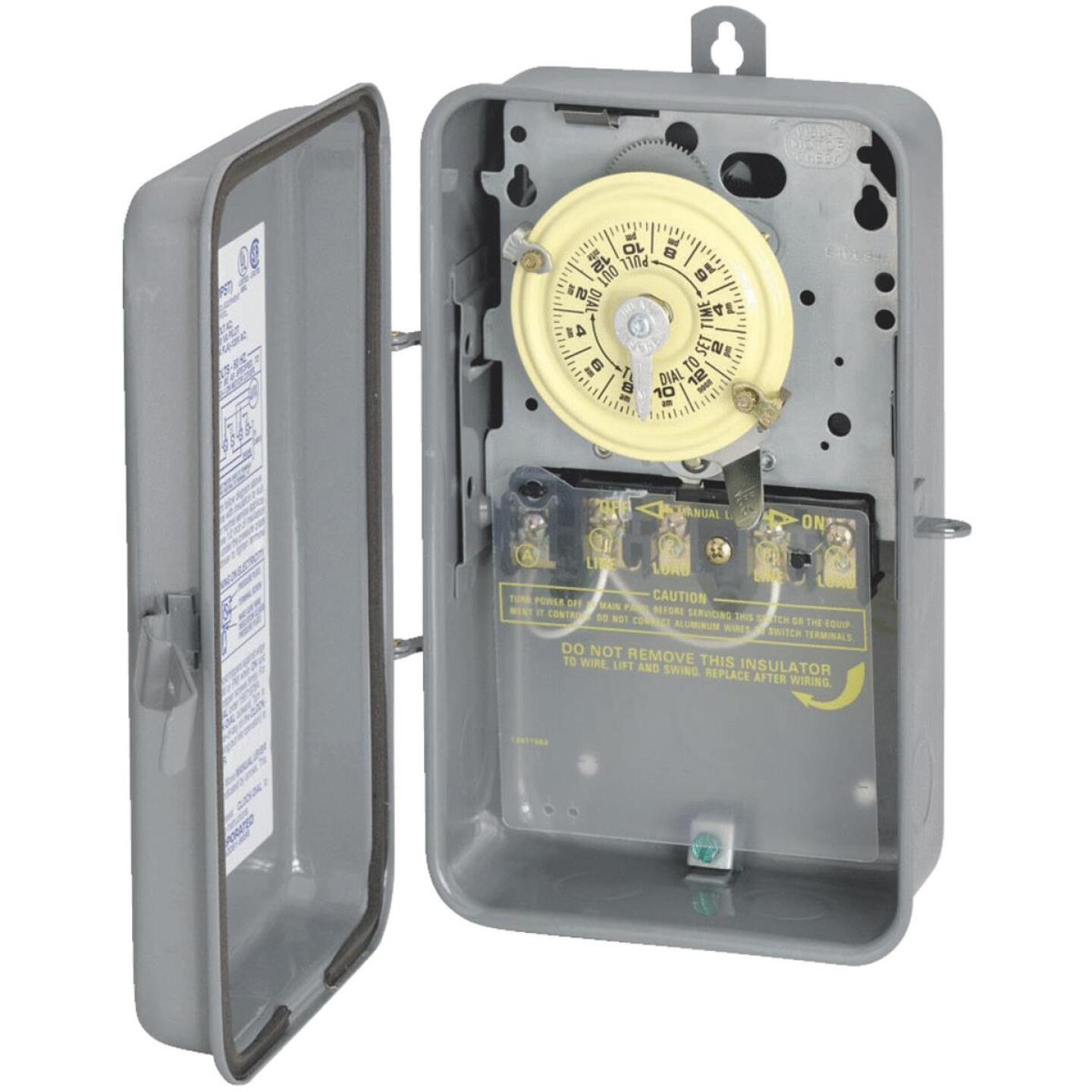 Intermatic 40A 277V 4000W Gray Raintight Outdoor Timer Image 1