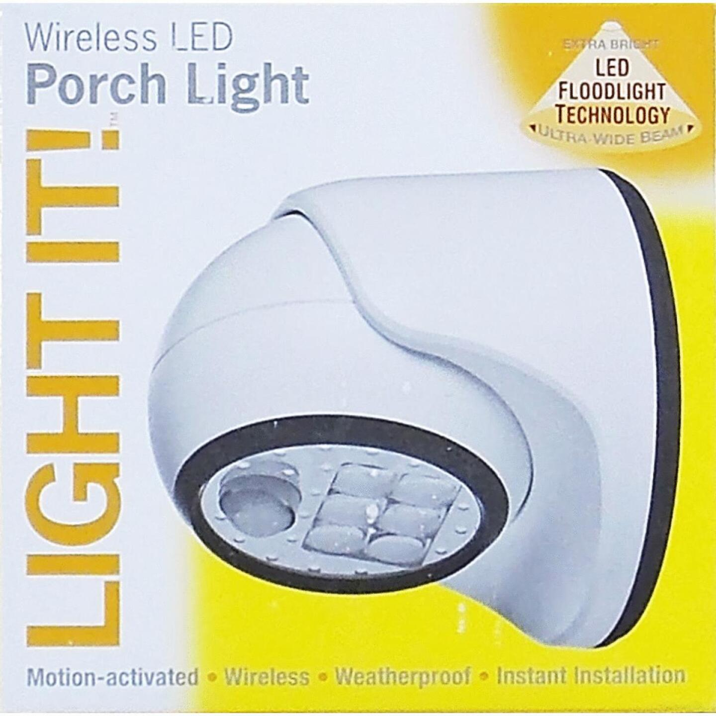 Light It White 100 Lm. LED Battery Operated Security Light Fixture Image 2