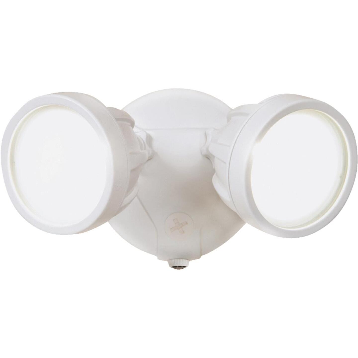 All-Pro White Dusk To Dawn LED Floodlight Fixture Image 1