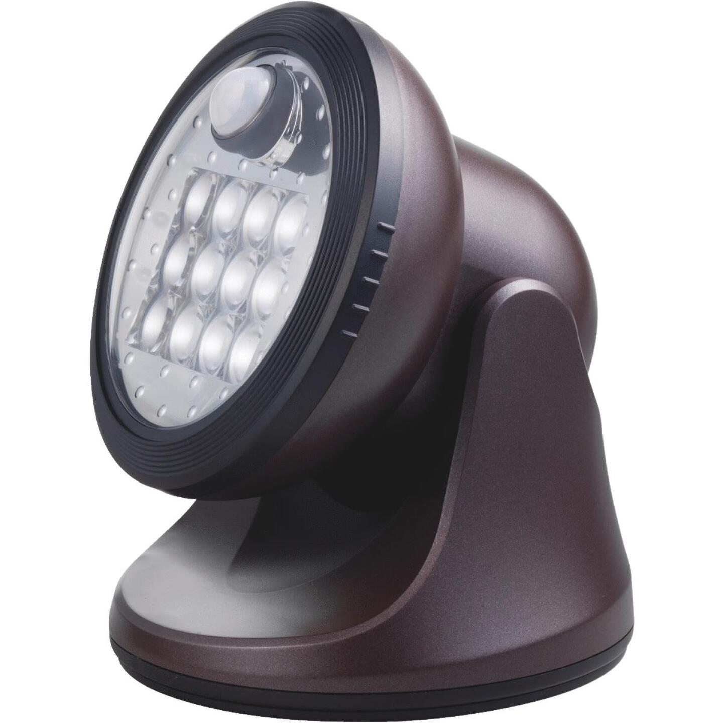 Light It Bronze 275 Lm. LED Battery Operated Security Light Fixture Image 1