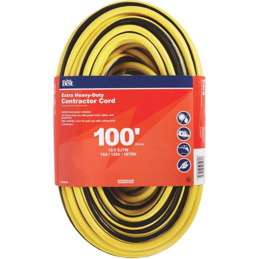 Do it Best 100 Ft. 12/3 Extra Heavy-Duty Contractor Extension Cord