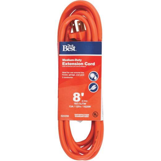 Do it Best 8 Ft. 16/3 Outdoor Extension Cord