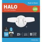 Halo Selectable Color Temperature White Dusk to Dawn LED Twin Head Floodlight Fixture Image 2