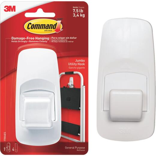 Command 2 In. x 4-1/4 In. Jumbo Adhesive Hook