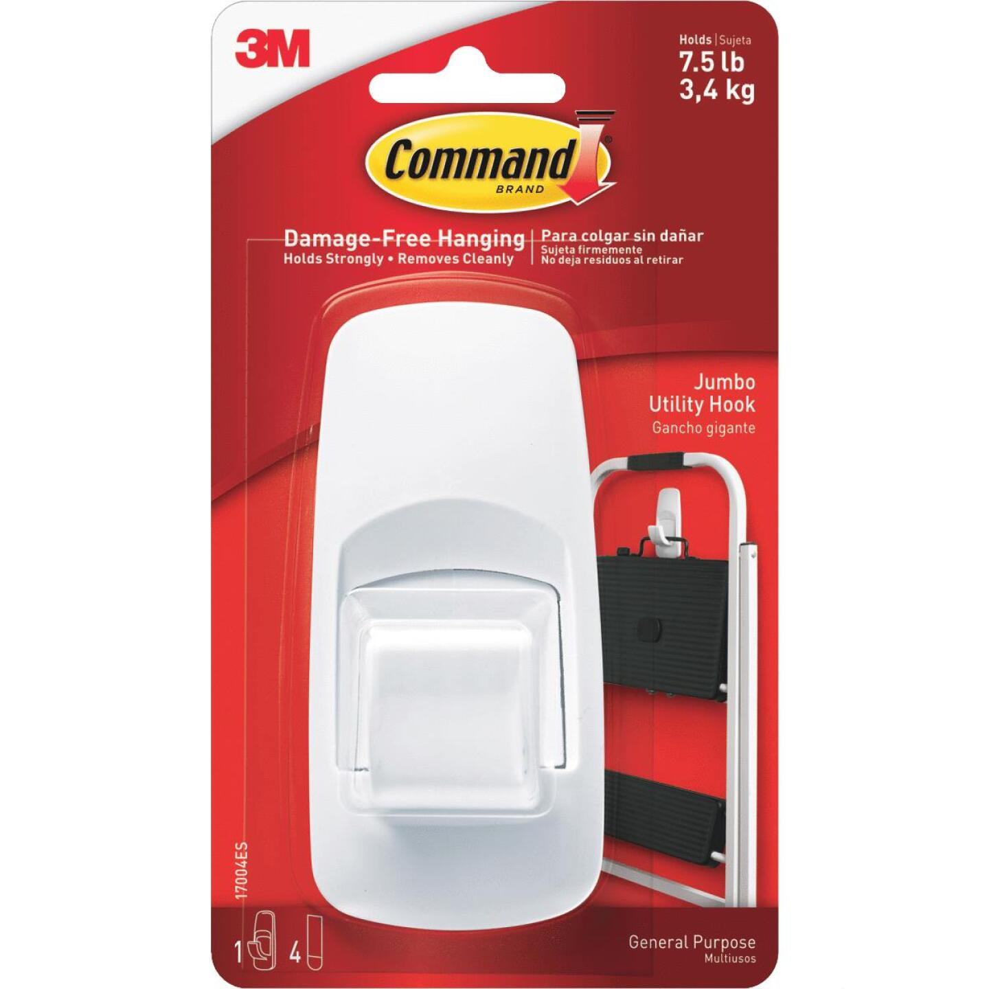 Command 2 In. x 4-1/4 In. Jumbo Adhesive Hook Image 3