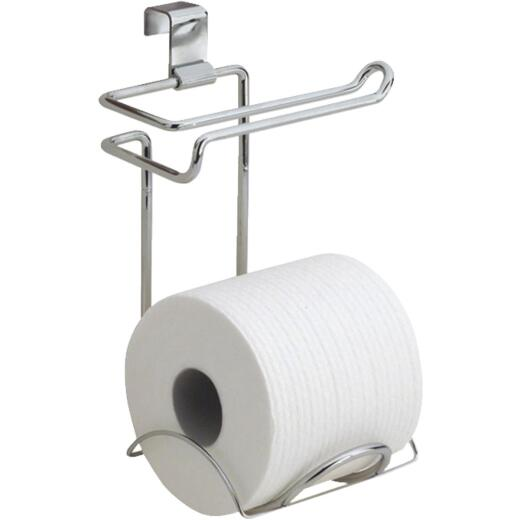 InterDesign Classico Chrome Over-the-Tank Toilet Paper Holder