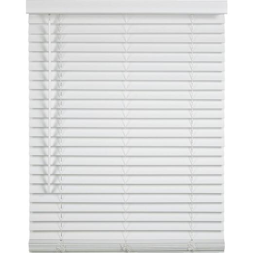 Home Impressions 36 In. x 64 In. x 2 In. White Faux Wood Cordless Blind