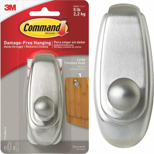 Command Large Metallic Adhesive Hook