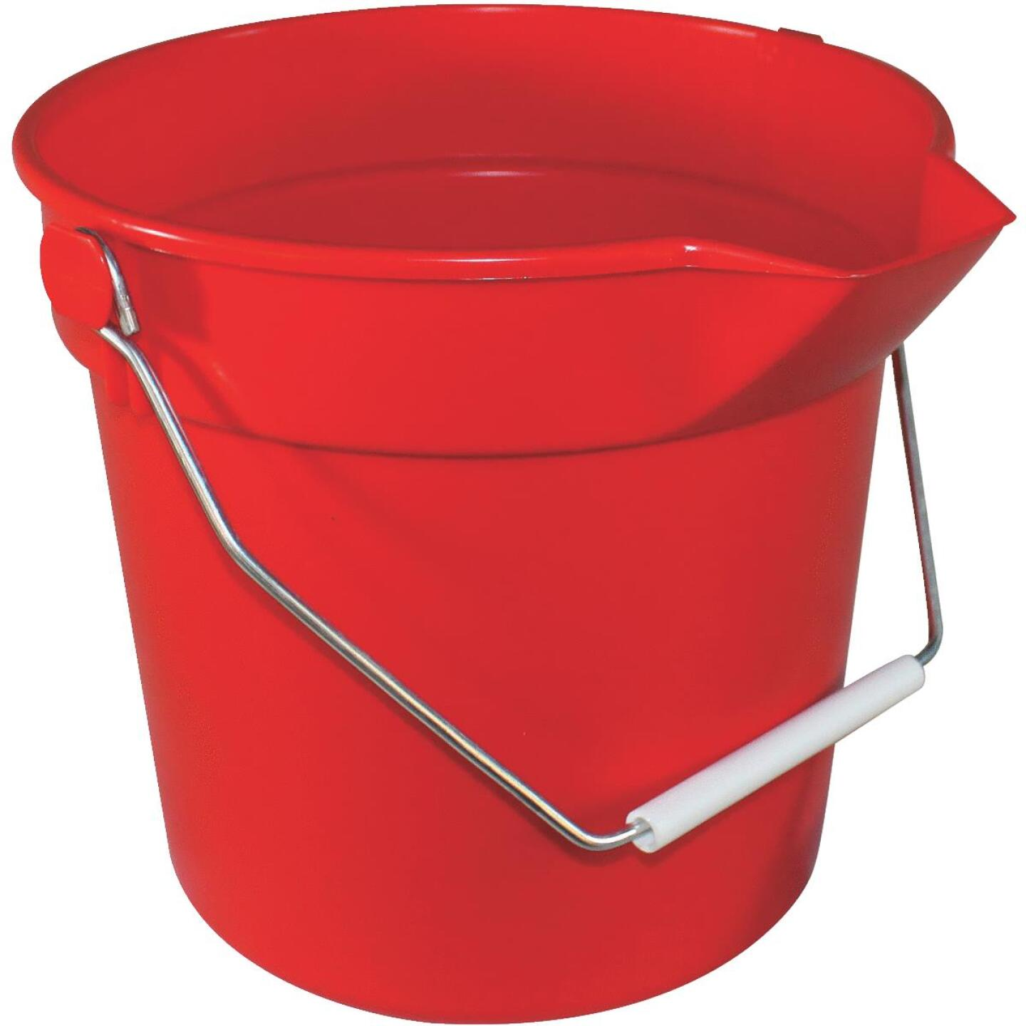 Impact 10 Qt. Red Heavy-Duty Bucket Image 1
