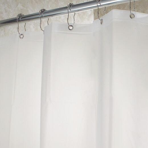 InterDesign Gia 72 In. x 72 In. Clear Vinyl Shower Curtain Liner