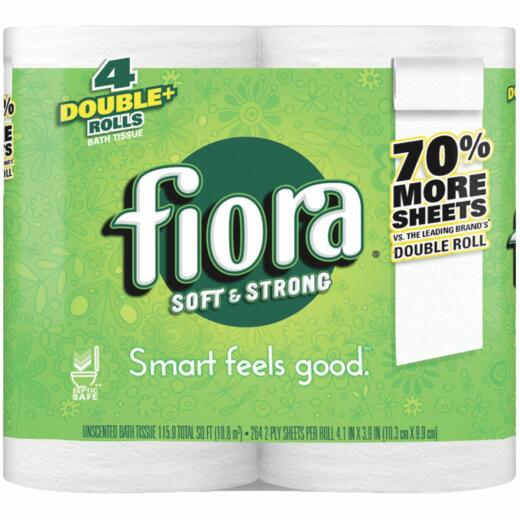Fiora Soft & Strong Toilet Paper (4 Double Rolls)