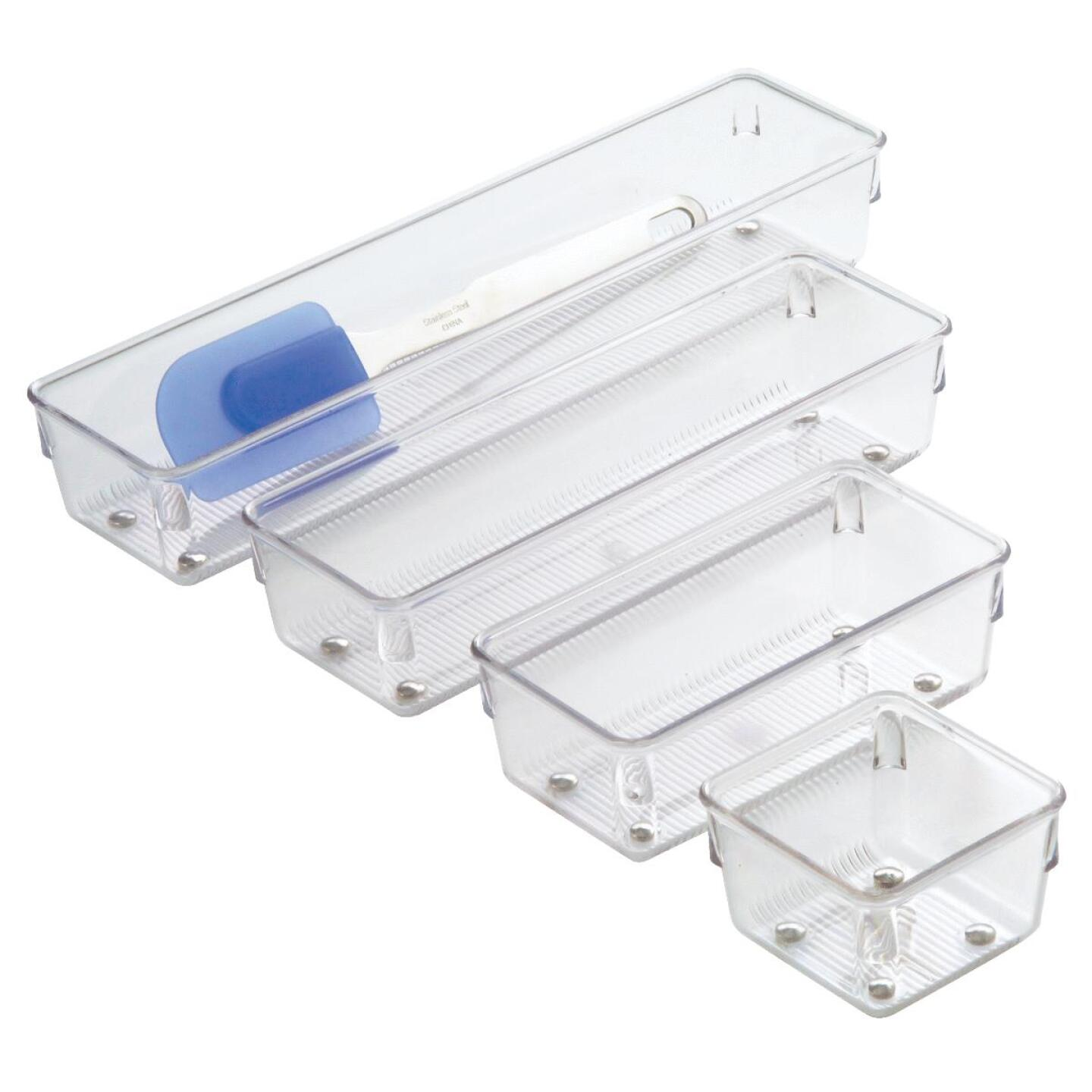 Interdesign Linus 3 In. x 12 In. x 2 In. Clear Drawer Organizer Image 2