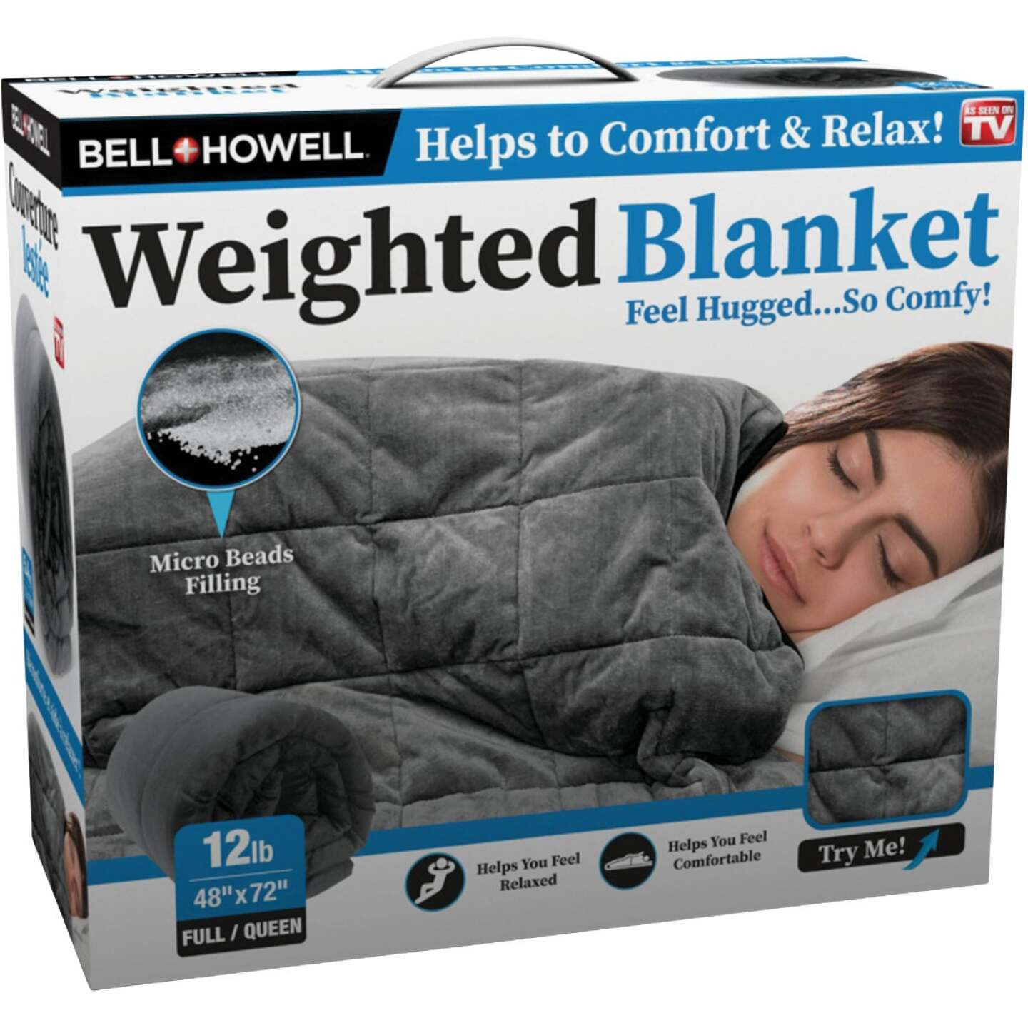 Bell+Howell 48 In. x 72 In. Full/Queen 12 Lb. Weighted Blanket Image 1