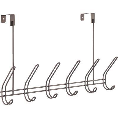iDesign Classico Over-The-Door Bronze 6-Hook Rail