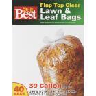 Do it Best 39 Gal. Clear Flap Tie Lawn & Leaf Bag (40-Count) Image 6